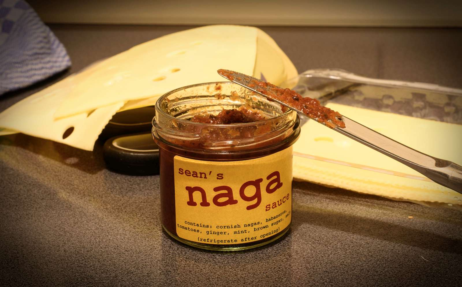 My last jar of Naga sauce. Intensively hot.
